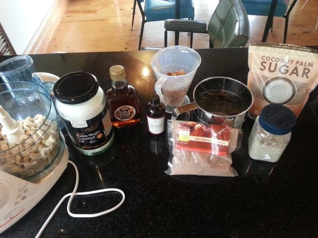 The ingredients (minus the Medjool dates, which are sitting just outside of the shot).