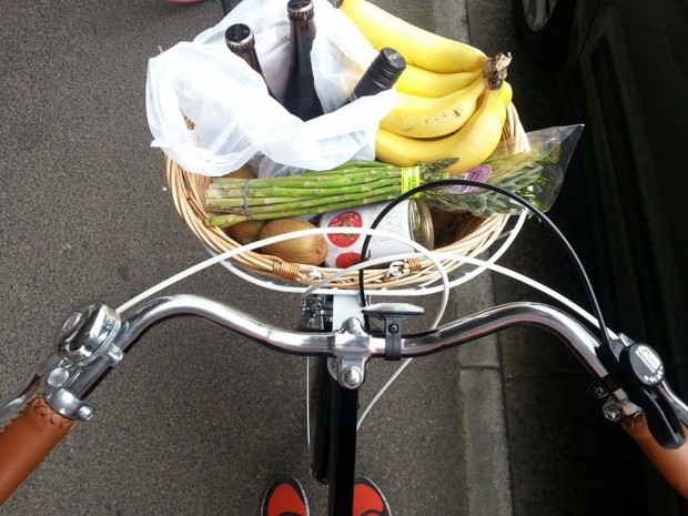 Ride your bike when shopping to earn extra happy-planet points.