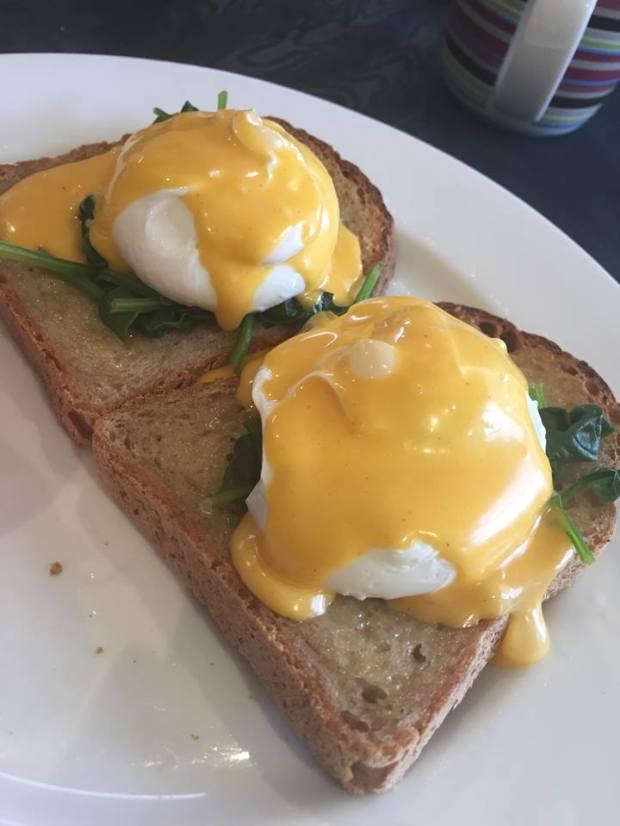 Eggs on GF toast